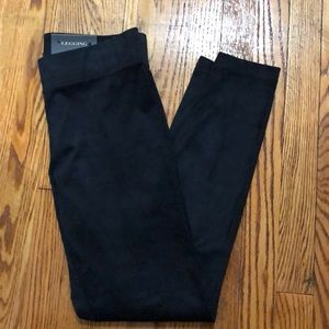 NWT Navy blue suede material leggings, sz small